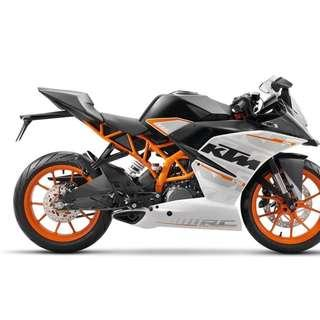 KTM RS390 D/P $500 or $0 With out insurance (Terms and conditions apply. Pls call 67468582 De Xing Motor Pte Ltd Blk 3006 Ubi Road 1 #01-356 S 408700.