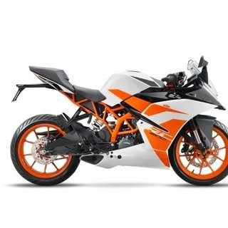 KTM RS200 D/P $500 or $0 With out insurance (Terms and conditions apply. Pls call 67468582 De Xing Motor Pte Ltd Blk 3006 Ubi Road 1 #01-356 S 408700.