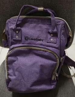 Lekebaby 薰衣紫色媽咪袋