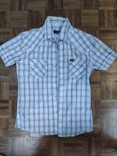 Branded, Good Condition Men's Blue Checkered Shirt