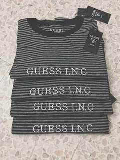 🚚 GUESS INC black stripes shirt