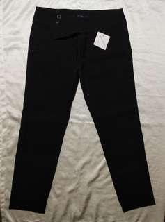 2 slacks black & brown