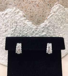 🌟 Round Crystal Earrings for Women • Hoop Earrings CZ Stone Cubic Zirconia