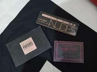Focallure Eyeshadow, La Girl Eyeshadow, City Color Blush On