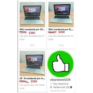 Assorted macbook pro for sale from $380