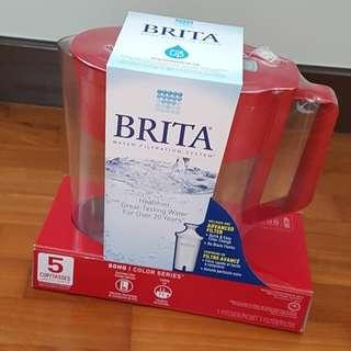 Brita Water Filter Pitcher, Red