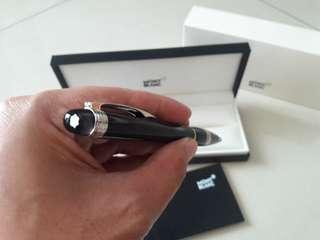 Mont Blanc StarWalker Platinum Resin Ballpoint Pen