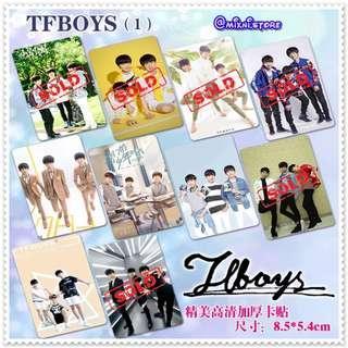 「C-Pop」TFBoys - 水晶卡貼 ( 散買 )