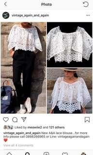Vintage again and again lace blouse