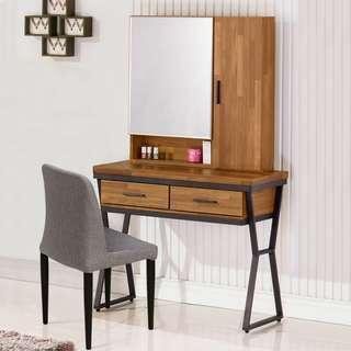 C01_585【免組裝專人送府】簡潔精緻時尚感化妝桌+化妝椅