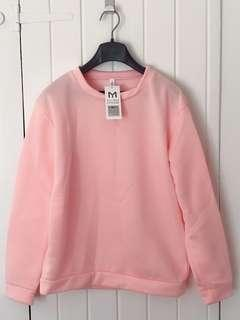 Korean Style Lady's Warm Pink Top