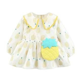 🚚 yellow pineapple dress with fake bag