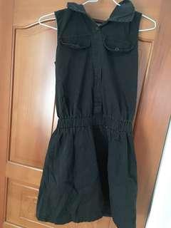 🚚 黑色無袖連身裙