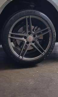 *fast deal price* Inforged 18in Rim with conti tyre (90%)