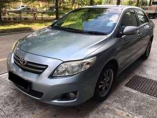 29.03 TO 01.04 FRI-MON TOYOTA ALTIS 2ND GENERATION $195 (P PLATE WELCOME)(FREE PICKUP AT SEMBAWANG MRT)