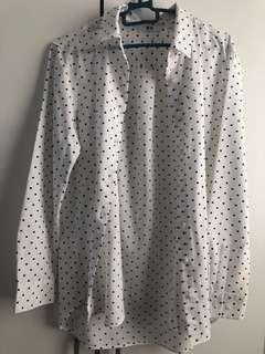 Uniqlo Printed Rayon Blouse