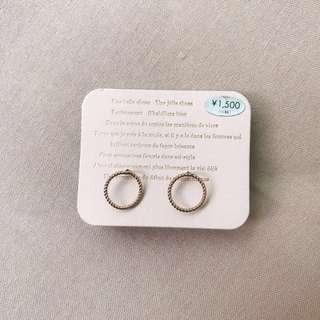 🚚 🇯🇵 圈圈 玫瑰金 耳環