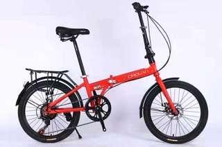 """🚚 Bicycle 20"""" Crolan Folding Bike Red"""