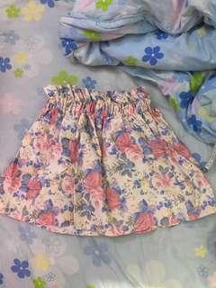 全新snidel碎花半裙lily brown floral skirt日系日牌女衣