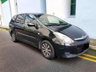 Toyota Wish : $350/week , cheapest 7 seater car rental for grab , personal use