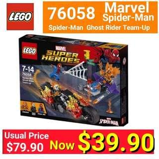 Lego Spider-Man: Ghost RiderTeam-up. usual Price:$79.90 Now :$39.90 (Brand New In nox and sealed ) one set left