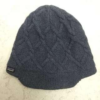 Patagonia 藍色羊毛冷帽