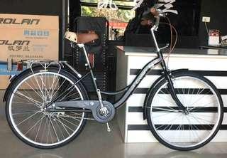 "🚚 Bicycle 24"" Crolan City Bike Black"