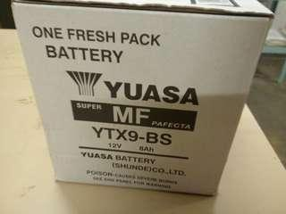 YUASA YTX9-BS Battery 電池 CB400