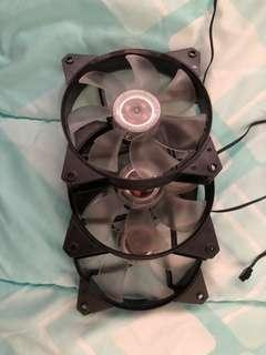 3X Cooler Master MF120L White LED 120mm Case Fan