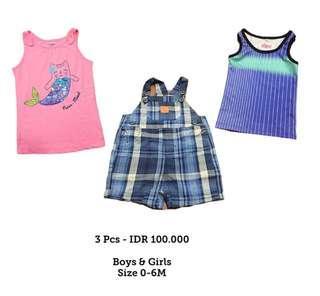 Babies clothes 0-6 M, 3 pcs