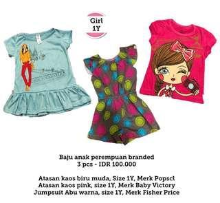 Girls Clothes 1Y, 3 pcs