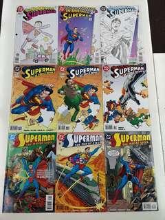 Superman Polyesteryear (1987 2nd Series) Comics Set