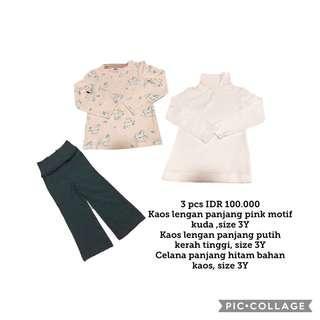 Girl Clothes 3Y, 3 pcs
