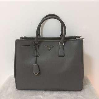 b7b0cb99d5f2 AUTHENTIC PRADA SAFFIANO LUX SHOPPING DOUBLE ZIP TOTE (LARGE )