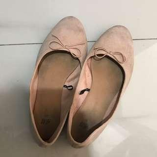 Flat Shoes h&m nude pink