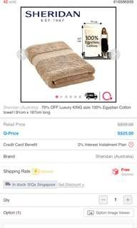 🚚 Sheridan luxury king towel