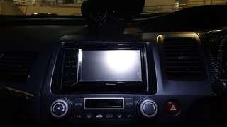 Civic fd double din n pioneer player with 4 chanel alpine amp  n other stuffs