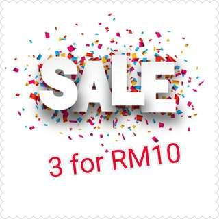 Sale!! 👗3 for RM10