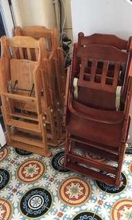 Baby wooden foldable high chairs
