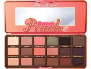 Too Faced Sweet Peach Eyeshadow Palette