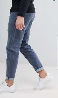 🚚 Asos design tapered jeans in smokey blue