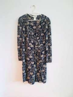 Paul & Joe blue flower patterned silk dress
