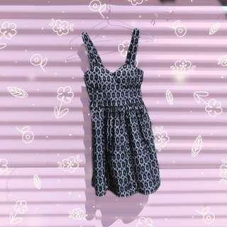 🔄Dotti B&W Embroidery Floral Dress #SwapAU