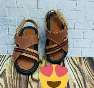 Sepatu sandal bayi laki laki warna coklat