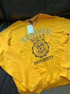 包郵 H&M yellow sweatshirt