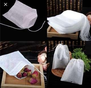 20 Pieces teabag with strings- Empty Tea Bag Holder  - Free Singpost Normal Mail