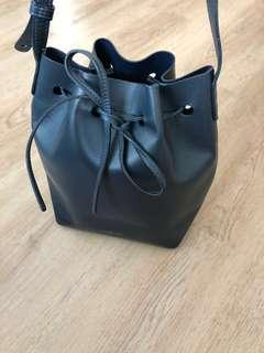 Mansur Gavriel Mini Bucket Bag Navy