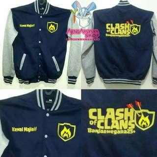 Jaket Varsity Clash Of Clans Custom