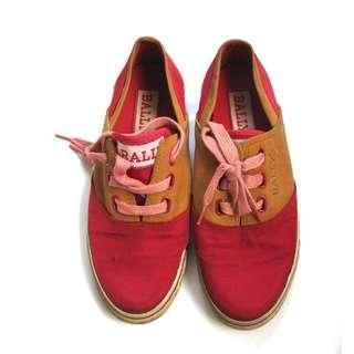 Bally Italy Red Sneakers