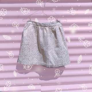 Sportsgirl Gold On Beige Skirt